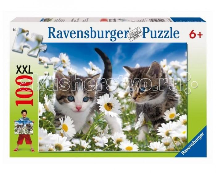 Пазлы Ravensburger Пазл Котята в ромашках 100 элементов ravensburger пазл кролик в ромашках xxl 150 деталей