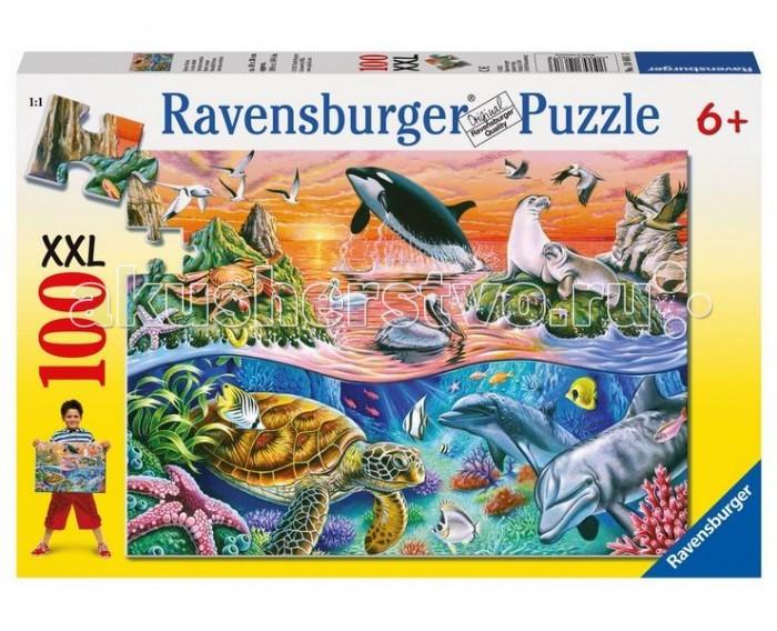 Пазлы Ravensburger Пазл Морской мир 100 элементов пазлы origami пазл дм зайчик и волчонок 25 элементов
