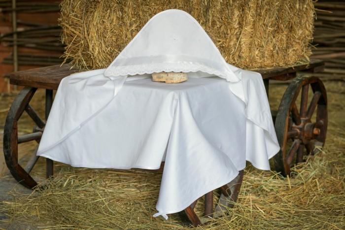 Детская одежда , Крестильная одежда Alivia Kids Крестильная пеленка Воздушное шитье 90х90 12.805.10 арт: 341585 -  Крестильная одежда
