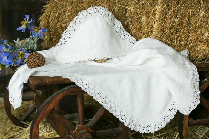 Детская одежда , Крестильная одежда Alivia Kids Крестильная пеленка Ажурный хлопок 100х100 12.814.10 арт: 341610 -  Крестильная одежда