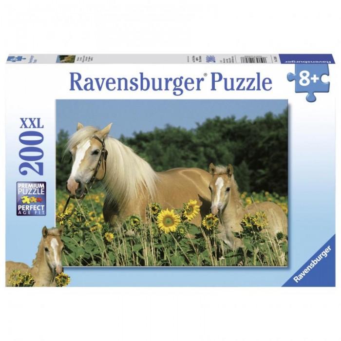 Пазлы Ravensburger Пазл Лошади в подсолнухах 200 элементов куплю телегу к лошади в гродно