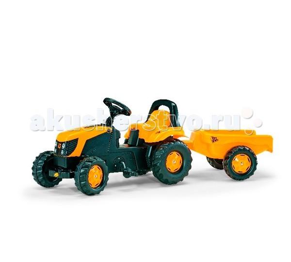 Rolly Toys Педальная машина Kid JCBПедальная машина Kid JCBПедальная машина Rolly Toys Kid JCB - отличное приобретение техники для любого ребенка. Трактор подходит для использования в помещении и на улице. Ребёнок крутит сам педали, управляя движением: может ездить как вперёд, так и назад.  Особенности: На колёсах – пластиковые ребристые накладки для лучшего сцепления с поверхностью (состав пластика не гремит по дорогам) Крышка моторного отсека поднимается, совсем как у настоящего трактора и под ней находится маленький багажник, в который можно положить все самое необходимое Сзади прикреплен самый настоящий прицеп - радости ребенка не будет предела, ведь он теперь сможет перевозить инструменты или любимые игрушки, теперь-то уж точно все всегда будет под рукой На педальках для безопасности – ребристая поверхность, чтобы ножка ребёнка не соскальзывала Надёжная и устойчивая конструкция машины проста в управлении, безопасная и маневренная. Яркий игровой пластик создает иллюзию настоящей дорожно - транспортной или сельскохозяйственной техники Педальная машина с прицепом поможет ребёнку стать еще более активным, развиться физически, освоить определенные навыки, отлично провести время и поднять настроение<br>