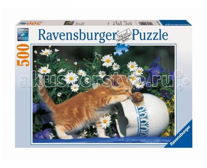 Пазлы Ravensburger Пазл Любопытный котенок 500 элементов белый медвежонок и котенок пазл 150 элементов