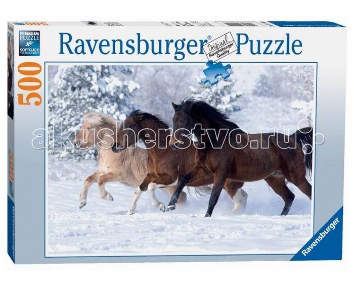 Пазлы Ravensburger Пазл Галопом по снегу 500 элементов пазл галопом по снегу 500 шт