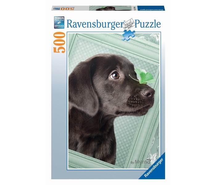 Пазлы Ravensburger Пазл Счастливый щенок 500 элементов пазлы origami пазл дм зайчик и волчонок 25 элементов