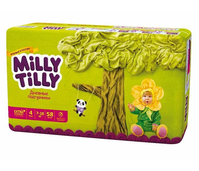 Подгузники Milly Tilly Дневные подгузники Макси 7-18 кг 58 шт. tilly and friends who s hiding