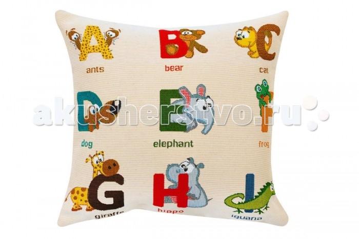Постельные принадлежности , Подушки для малыша Якимок Набор из двух двусторонних развивающих подушек-игрушек Английский алфавит и цифры арт: 343135 -  Подушки для малыша