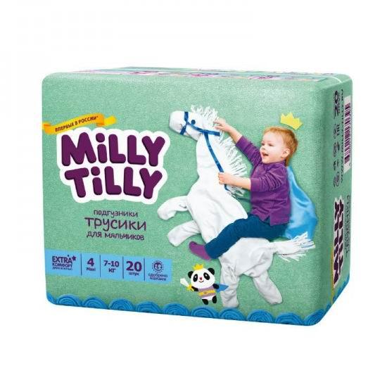 Milly Tilly Детские подгузники-трусики для мальчиков 7-10 кг 20 шт.
