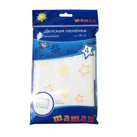 Одноразовые пеленки Maman Одноразовые пеленки RB-21 46х33 см 4 шт. maman для воды rt 17 утка