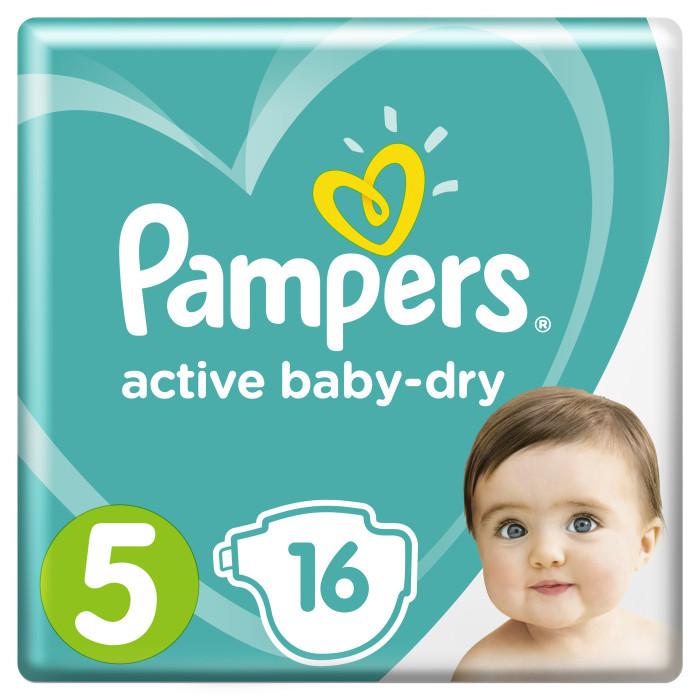Подгузники Pampers Подгузники Active Baby Dry Junior р.5 (11-18 кг) 16 шт. подгузники pampers active baby dry 5 11 18 кг 111 шт