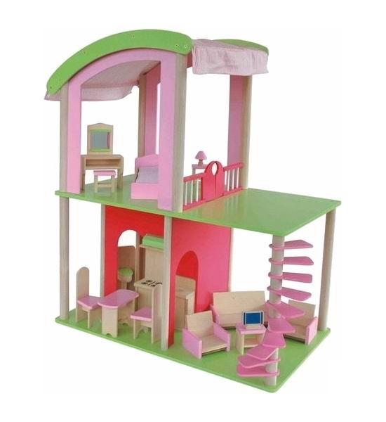 Craft Кукольный домик Флоренция с мебелью и кукламиКукольный домик Флоренция с мебелью и кукламиКукольный домик Флоренция - яркий, красочный, в современном итальянском стиле. Разнообразная мебель и большое пространство, наполненное светом, подскажет множество сценариев для игр! Домик станет любимой игрушкой вашего ребенка на долгие годы. В нем есть все, что необходимо для проживания кукольной семьи!  Характеристики: 2 этажа 5 комнат 16 предметов мебели 4 куклы  Размер домика (ШхГхВ): 70 х 40 х 85 см.  Кукольный домик – заветная мечта каждой девочки. Ведь это так заманчиво – проникнуть в тайную жизнь игрушек, окунуться в чудесный мир игры, вообразить, как оживают куклы, когда гаснет свет… Продукция ТМ «Craft» с легкостью воплотит ее в реальность!  Домики Craft прочны, надежны и экологичны. Детали изготовлены из качественного ДСП и каучукового дерева с острова Хайнань и березы с северо-востока Китая, с соблюдением строгих правила качества и безопасности. Такой игрушечный дом никогда не вызовет аллергию у ребенка. Более того дерево вызывает приятные тактильные ощущения.   Красивый дом с мебелью - это пространство для увлекательной многочасовой игры, в процессе которой дети моделируют различные ситуации из реальной жизни, получают навыки общения, развивают коммуникабельность, стимулируют воображение и фантазию.<br>