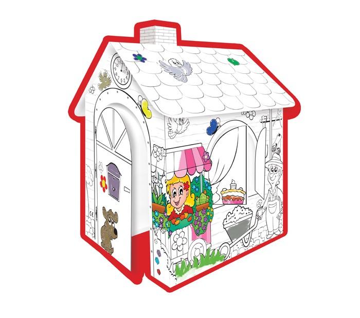 Творчество и хобби , Раскраски Mochtoys Картонный домик -раскраска арт: 344725 -  Раскраски