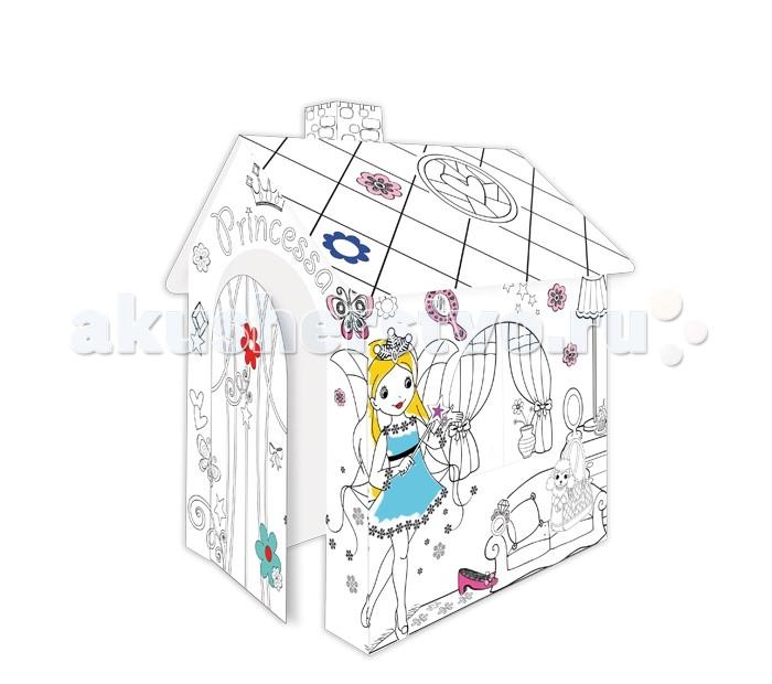 Творчество и хобби , Раскраски Mochtoys Картонный домик раскраска Принцесса арт: 344730 -  Раскраски
