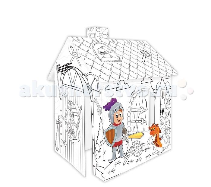 Творчество и хобби , Раскраски Mochtoys Картонный домик-раскраска Рыцарь арт: 344740 -  Раскраски