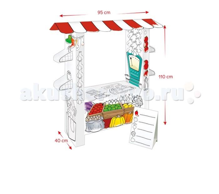 Творчество и хобби , Раскраски Mochtoys Картонный домик-раскраска Супермаркет арт: 344750 -  Раскраски