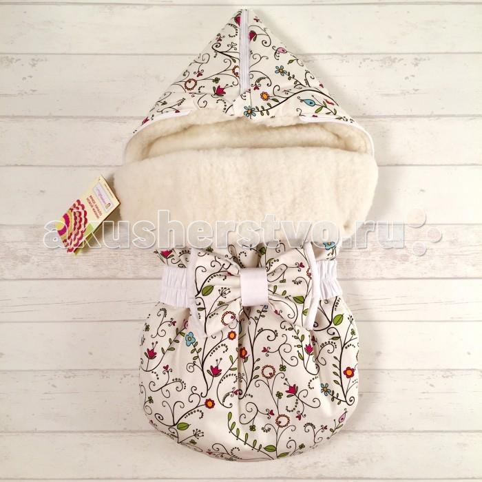Купить Конверты для новорожденных, СуперМаМкет Зимний конверт JustCute Цветы на овчине (зима)