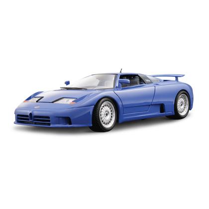 Bburago Машина Bugatti EB 110Машина Bugatti EB 110Машина Bburago Bugatti EB 110 – это копия настоящего автомобиля с полной детализацией всех частей, 1:18  Игрушка выполнена из высококачественного металла и пластика. Детали и края аккуратно обработаны.   Коллекционные машинки Бураго развивают у ребенка развивают координацию движений и меткость, пространственное и образное мышление, воображение, мелкую моторику. С мини-модельками автомобилей Bburago игра станет настолько увлекательной, что оторваться будет невозможно!   Компания Bburago – мировой лидер в производстве коллекционных моделей автомобилей. Более 30 лет профессиональные дизайнеры Bburago разрабатывают точные копии современных машин и ретро машин известных марок. С автомобилями Bburago можно не только играть, но и сделать их частью своей коллекции!<br>