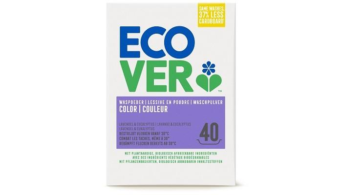 Ecover Экологический стиральный порошок-концентрат для цветного белья 3 кгЭкологический стиральный порошок-концентрат для цветного белья 3 кгЭтот порошок для цветного белья не содержит искусственных красителей, фосфатов и отдушек. Экологичный стиральный порошок Ecover Color деликатно стирает цветное бельё, не повреждая волокна и полностью выполаскиваясь из них. Средство обладает слегка уловимым ненавязчивым ароматом. Оставшаяся после стирки вода не вредит окружающей среде, полностью разлагается на безопасные биокомпоненты.  Формула-концентрат позволяет экономить расход порошка на четверть по сравнению с обычной формулой. Позволяет не добавлять специальные средства от накипи в стиральную машинку. Обладает натуральным ароматом. Кислородный отбеливатель в составе порошка полностью натурален.  Состав не содержит фосфатов и синтетических ароматизаторов. Содержит энзимы (без ГМО).  Состав: 15-30% анионные натуральные ПАВ на растительной основе, алюминат натрия, кислородный отбеливатель (пероксид карбонат натрия); 5-15% неионный этаксилад метилового эфира рапсового масла, силикат натрия;<br>