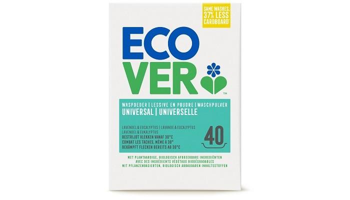 Ecover Экологический стиральный порошок-концентрат универсальный 3 кгЭкологический стиральный порошок-концентрат универсальный 3 кгУниверсальный порошок-концентрат для белого и нелиняющего цветного белья с высокой эффективностью стирки. Безопасен при контакте как для детей, так и для взрослых. Формула содержит малое количество кислородного отбеливателя для отличного удаления трудновыводимых пятен. Полностью выполаскивается.  Формула-концентрат позволяет экономить расход порошка на четверть по сравнению с обычной формулой. Позволяет не добавлять специальные средства от накипи в стиральную машинку. Обладает натуральным ароматом. Кислородный отбеливатель в составе порошка полностью натурален.  Состав не содержит фосфатов и синтетических ароматизаторов. Содержит энзимы (без ГМО).  Состав: 15-30% анионные натуральные ПАВ на растительной основе, алюминат натрия, кислородный отбеливатель (пероксид карбонат натрия); 5-15% неионный этаксилад метилового эфира рапсового масла, силикат натрия;<br>