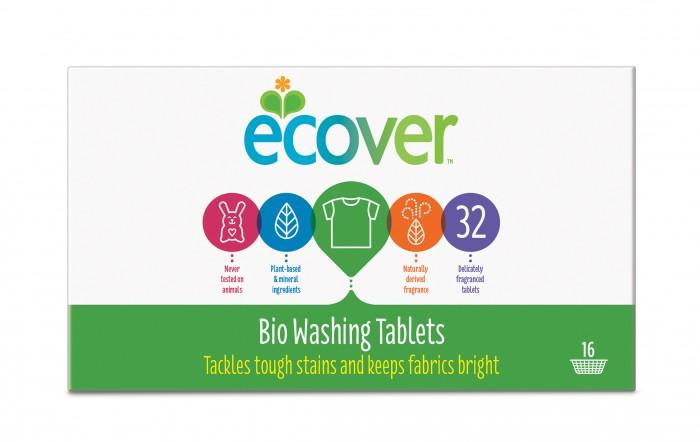 Бытовая химия Ecover Экологические таблетки для стирки 960 г 32 шт. экологические таблетки для посудомоечной машины ecover 25 шт