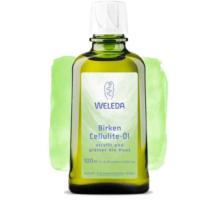 Косметика для мамы Weleda Березовое антицеллюлитное масло 100 мл косметика для мамы weleda масло для волос 50 мл