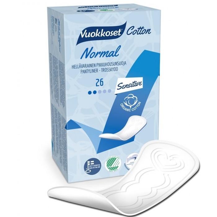 Гигиенические прокладки Vuokkoset Ежедневные гигиенические прокладки Cotton Active Normal 26 шт.