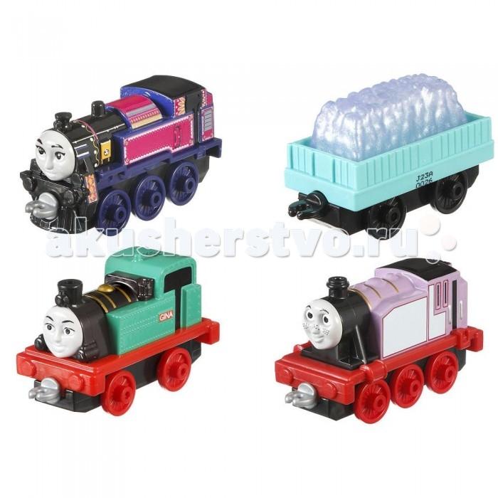 Игровые наборы Thomas & Friends Игровой набор из трех новых персонажей-паровозиков с вагончиком игровые наборы tomy набор поезд динозавров тайни с вагончиком