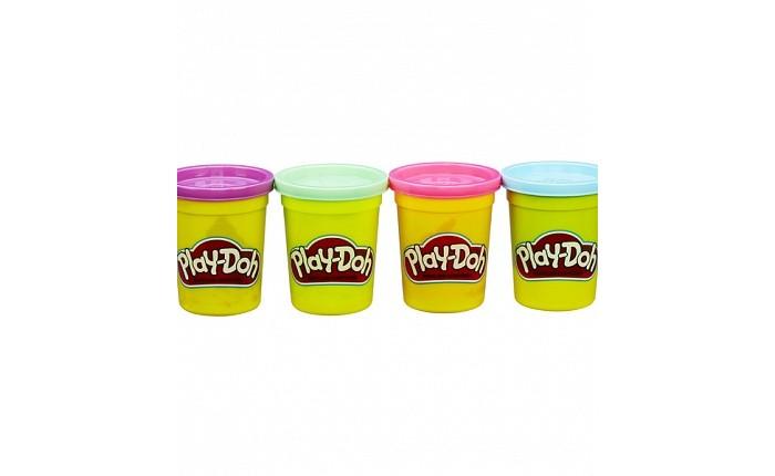 Всё для лепки Play-Doh Набор для лепки из 4 баночек наборы для лепки play doh игровой набор сумасшедшие прически