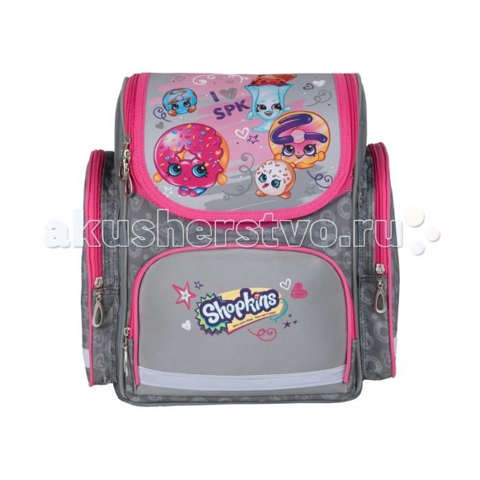 Развитие и школа , Школьные рюкзаки Shopkins Рюкзак с усиленной спинкой и твердым корпусом средний Шопкинс арт: 347965 -  Школьные рюкзаки