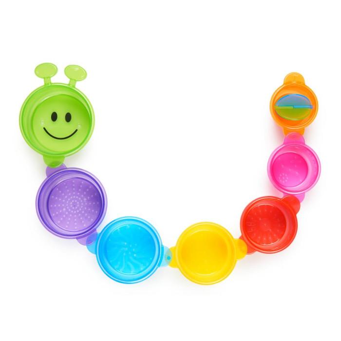 Игрушки для ванны Munchkin Игрушка для ванной Пирамидка-Гусеница игрушки для ванны munchkin игрушка для ванной пирамидка гусеница