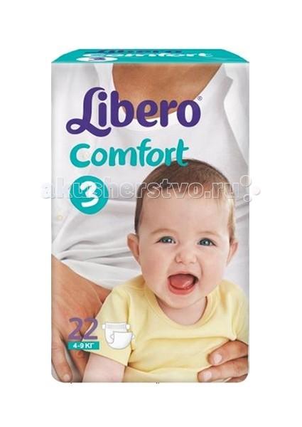 Подгузники Libero Подгузники Comfort Mega Midi (4-9 кг) 68 шт. libero comfort 3 4 9 22