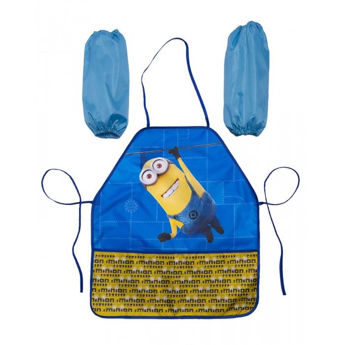 детские фартуки спейс фартук с нарукавниками 3 кармана собачка Детские фартуки Universal Фартук с нарукавниками Миньоны