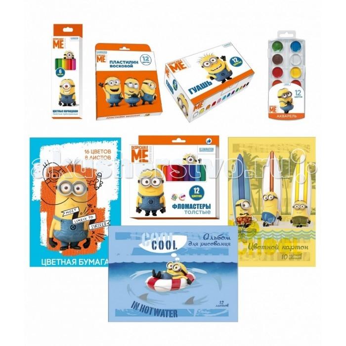 Развитие и школа , Принадлежности для рисования Universal Набор для детского творчества Гадкий Я 9 предметов арт: 348775 -  Принадлежности для рисования