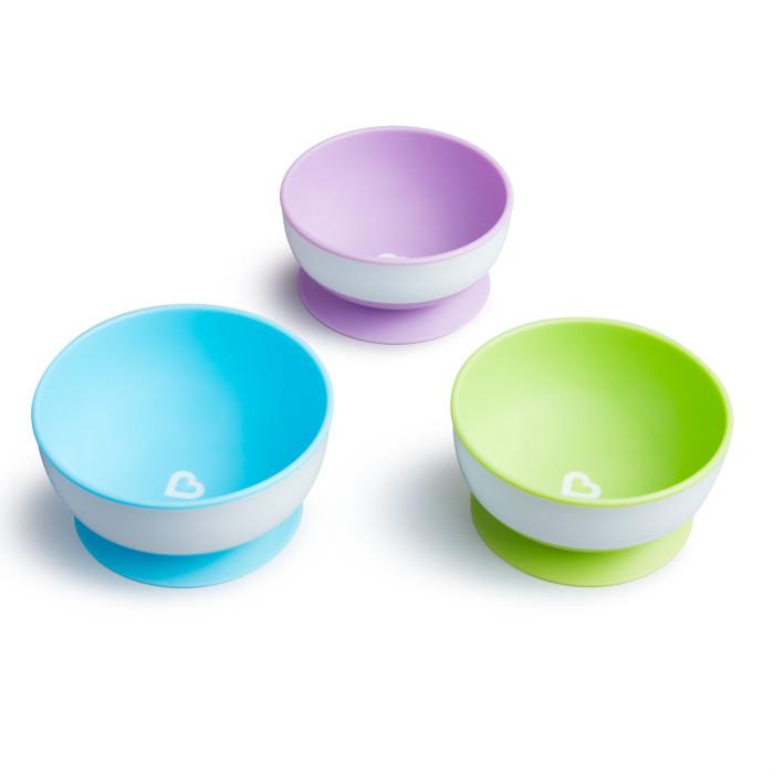 Фото Посуда Munchkin Набор детских тарелок на присосках 3 шт.
