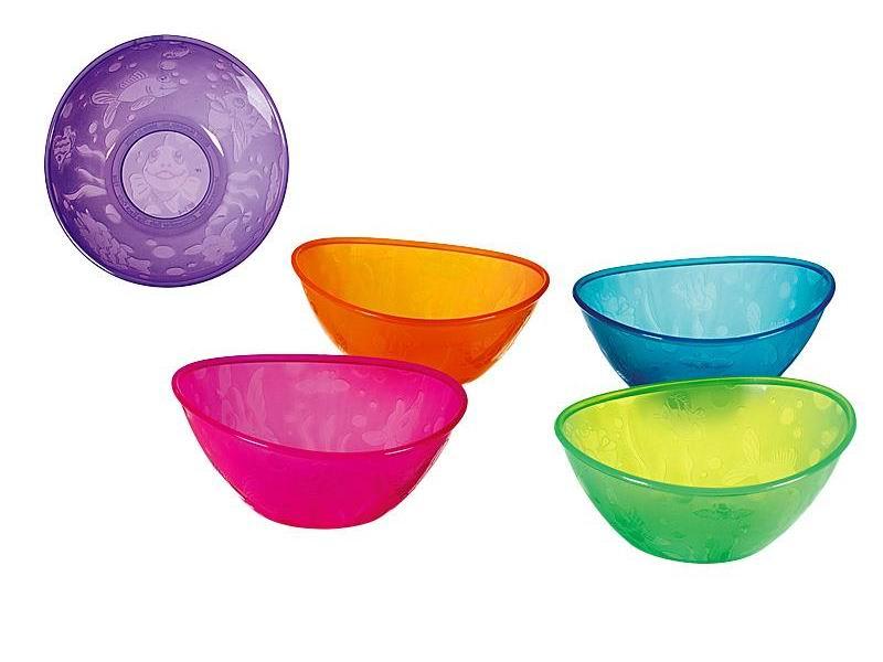 Посуда Munchkin Набор детских мисок 5 шт. munchkin набор детских тарелок на присосках 3 шт