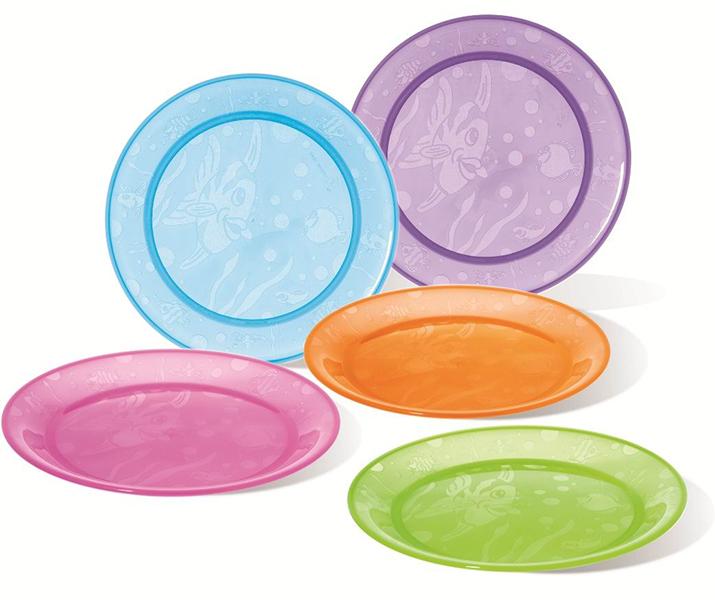 Посуда Munchkin Набор детских тарелок 5 шт. munchkin набор детских тарелок на присосках 3 шт