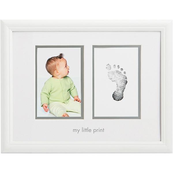 Детская мебель , Фотоальбомы и рамки Pearhead Рамочка двойная с отпечатком арт: 34913 -  Фотоальбомы и рамки