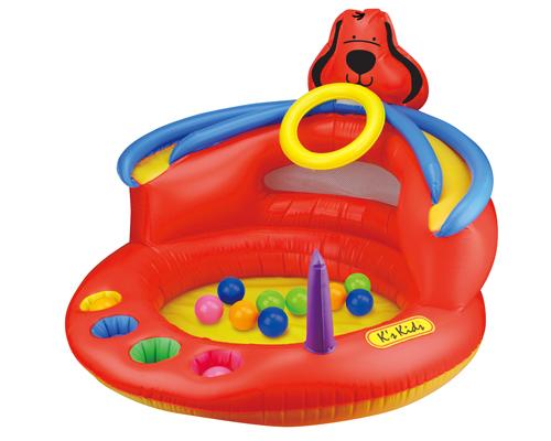 KS Kids Сухой игровой бассейн ПатрикСухой игровой бассейн ПатрикСухой игровой бассейн Патрик от фирмы Ks Kids это мягкий надувной центр имеющий множество разнообразных функций и аксессуаров!  Центр представляет собой игровую зону с отверстиями туннелями для шариков и колышками.  Благодаря игровому бассейну «Патрик» вы сможете поупражняться в ловкости, забрасывая мячики в лунку, или забрасывать колечки на колышки.  Размер 60х93х93 см   Состав: PVC, не содержит фталатов.<br>