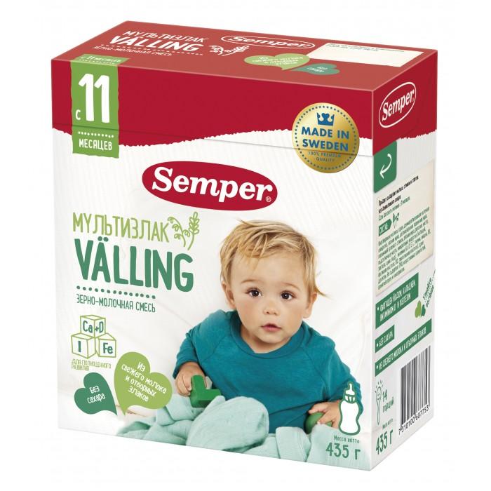 Молочные смеси Semper Молочно-зерновая смесь Веллинг Мультизлаковый с 11 мес. 435 г
