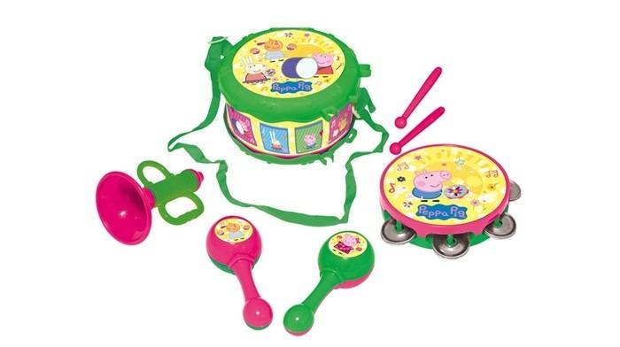 Музыкальные игрушки Свинка Пеппа (Peppa Pig) Набор музыкальных инструментов 7 предметов мягкие игрушки peppa pig мягкая игрушка пеппа модница 20 см
