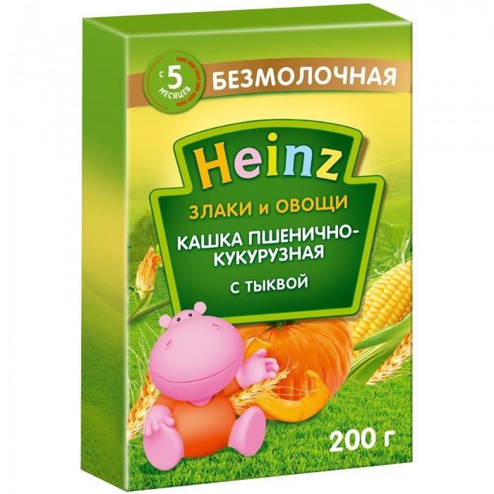 Каши Heinz Безмолочная пшенично-кукурузная каша с тыквой с 5 мес., 200 гр. каша безмолочная heinz злаки и овощи рисово пшеничная с кабачком с 5 мес 200 гр