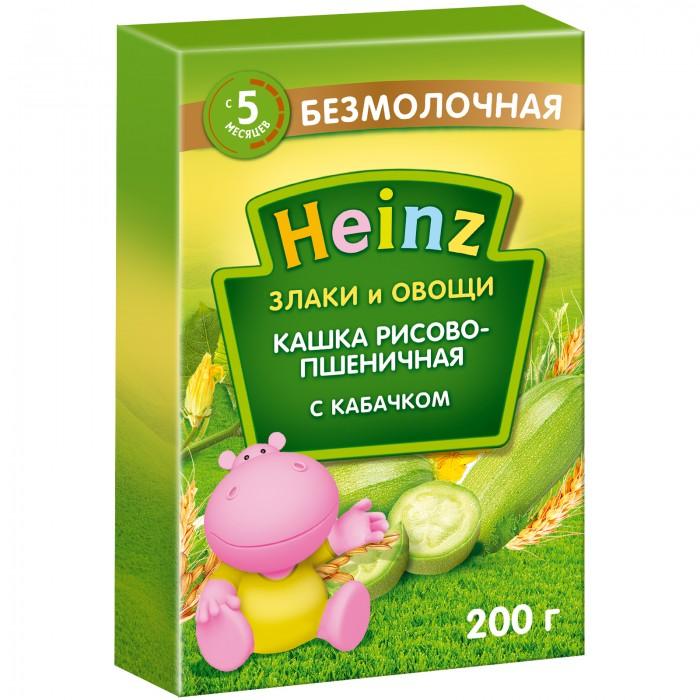 Каши Heinz Безмолочная Рисово-пшеничная каша с кабачками с 5 мес,. 200 г