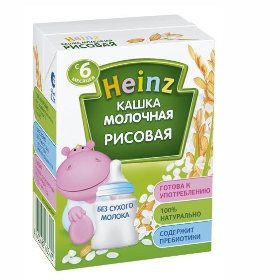 Heinz Молочная готовая рисовая каша с 6 мес., 200 мл heinz молочная с персиком