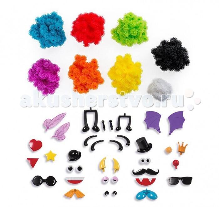 Конструктор Bunchens Набор МегапакНабор МегапакBunchems Набор Мегапак состоит из разноцветных шариков-липучек, которые отлично скрепляются между собой за счет маленьких крючков. Кроме липучек в наборе есть различные аксессуары — ножки, ручки, глазки, очки, усы, и так далее. В каждой липучке есть отверстие, туда прикрепляем аксессуары  Конструктор развивает мелкую моторику, а также воображение, пространственное мышление.   Конструктор-репейник включает в себя:  370 шариков (50 зеленых, 50 красных, 50 сиреневых, 50 голубых, 50 оранжевых, 50 желтых, 50 черных, 20 белых) 36 аксессуаров (глаза, усы, очки, шляпы и т.п.) красочная инструкция по созданию 15 объемных фигурок Внимание! Избегать попадания деталей конструктора в волосы!<br>
