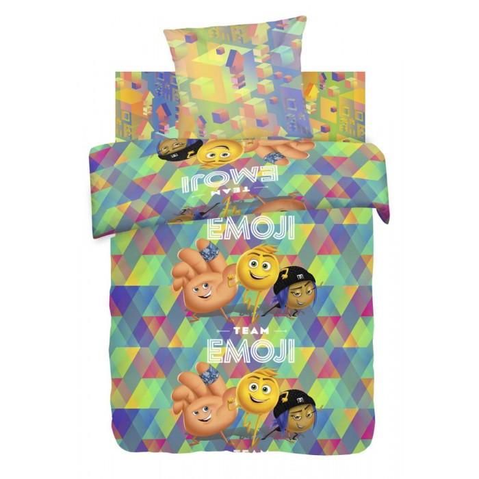 Постельное белье 1.5-спальное Непоседа Emoji movie Команда Эмоджи 1.5-спальное (3 предмета) непоседа непоседа детское постельное белье 1 5 спальное emoji movie эмоджи стайл