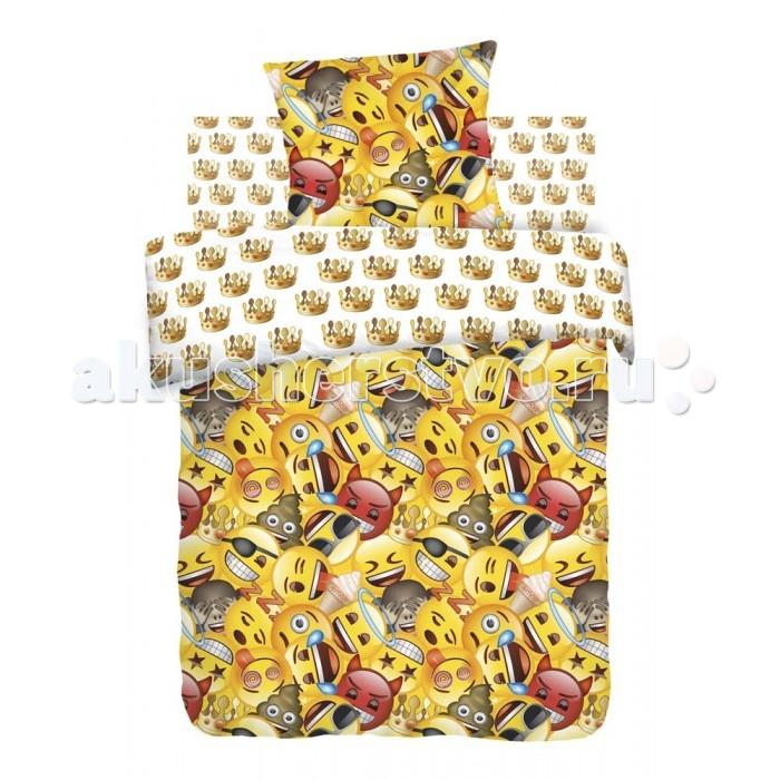Постельное белье 1.5-спальное Непоседа Emoji Смайлы 1.5-спальное (3 предмета) непоседа непоседа детское постельное белье 1 5 спальное emoji movie эмоджи стайл