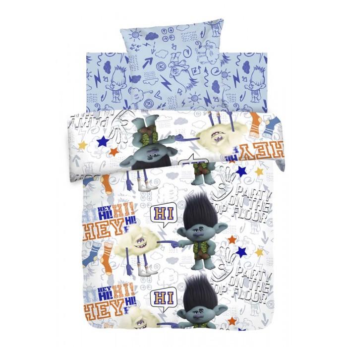 Постельное белье 1.5-спальное Непоседа Trolls Цветан и Облачко 1.5-спальное (3 предмета) постельное белье 1 5 спальное непоседа enchantimals фелисити лис и флик 1 5 спальное 3 предмета