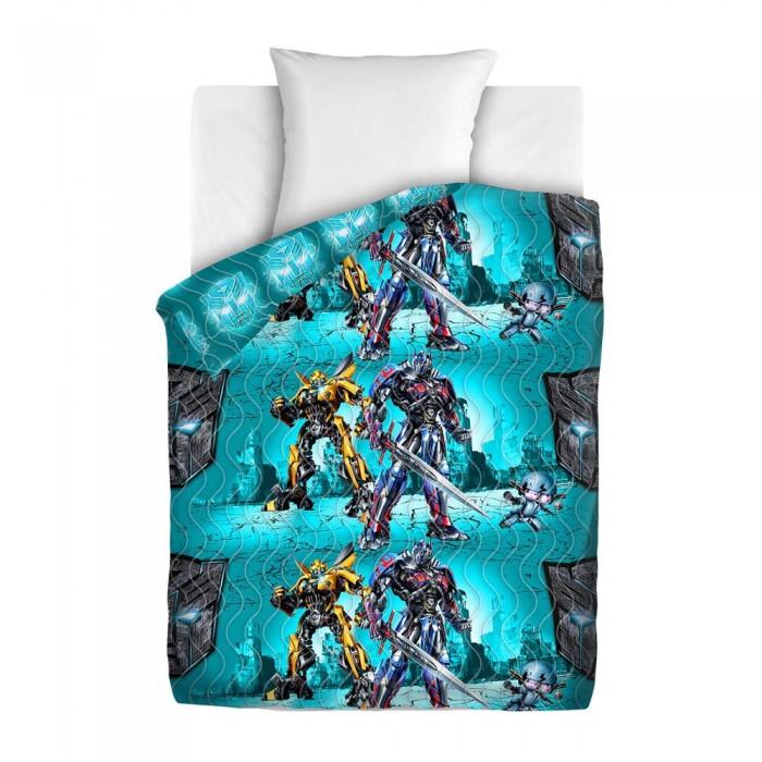 Постельные принадлежности , Пледы Непоседа покрывало стеганое Transformers Защитники 145х200 арт: 350920 -  Пледы