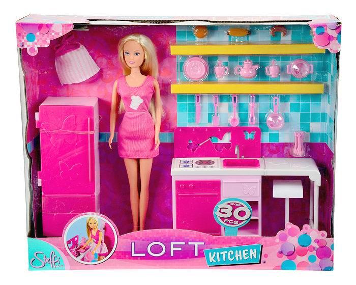 Куклы и одежда для кукол Simba Кукла Штеффи на кухне куклы simba штеффи на кухне аксессуары 29 см 1 8