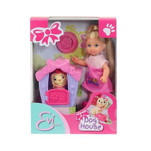 Куклы и одежда для кукол Simba Еви с собачкой в домике куклы и одежда для кукол simba кукла еви со стильной собачкой 12 cм